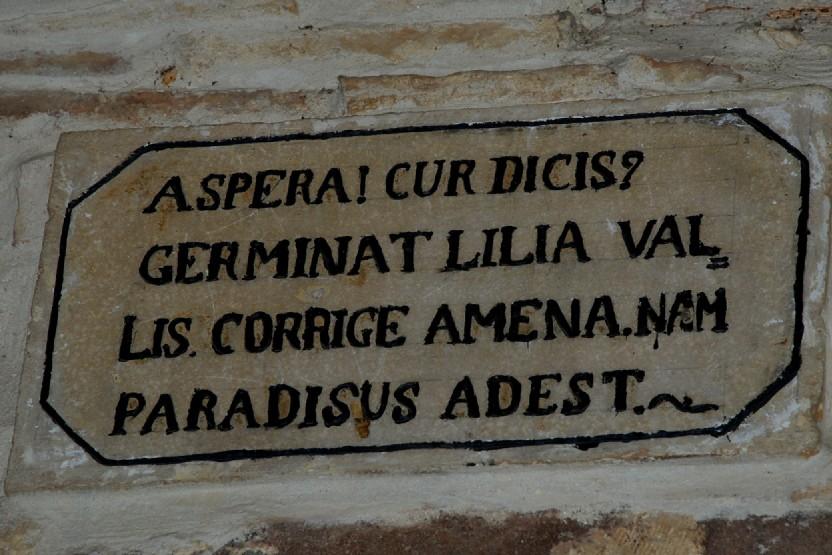 Iscrizione al Convento di Vallaspra